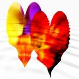 Dos corazones con las ondulaciones Imágenes de archivo libres de regalías
