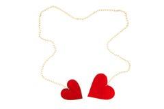 Dos corazones conectados Imágenes de archivo libres de regalías