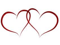 Dos corazones del amor stock de ilustración