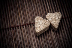 Dos corazones del azúcar Imagenes de archivo