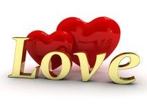 Dos corazones del caramelo Fotos de archivo libres de regalías