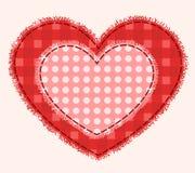 Dos corazones del remiendo Foto de archivo libre de regalías