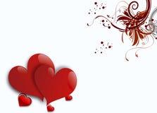 Dos corazones en el fondo blanco libre illustration