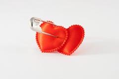 Dos corazones encuadernados Foto de archivo libre de regalías