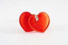 Dos corazones encuadernados Imagen de archivo libre de regalías
