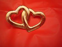 Dos corazones entrelazados Imagen de archivo