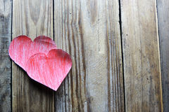 Dos corazones Imagen del día de tarjetas del día de San Valentín Imágenes de archivo libres de regalías