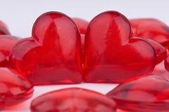 Dos corazones junto Fotos de archivo libres de regalías