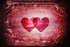 Dos corazones junto Foto de archivo libre de regalías