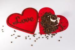 Dos corazones para las tarjetas del día de San Valentín Fotos de archivo libres de regalías