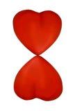 Dos corazones que forman la dimensión de una variable 8 Imagen de archivo libre de regalías