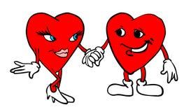 Dos corazones que llevan a cabo las manos imagen de archivo libre de regalías