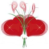 Dos corazones rojos Foto de archivo