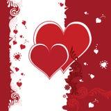 Dos corazones rojos Imagen de archivo