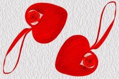 Dos corazones rojos Libre Illustration