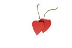 Dos corazones rojos Imagen de archivo libre de regalías