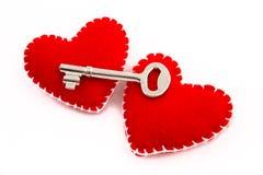 Dos corazones se abren para querer Fotos de archivo