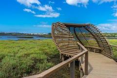 Dos Corvos de Ponta, Seixal Portugal Birdwatching Fotos de Stock