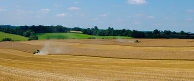 Dos cosechadoras de John Deere Imagenes de archivo