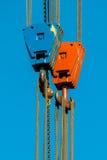 Dos Crane Lifting Hooks fotos de archivo