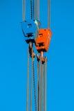 Dos Crane Lifting Hooks imagenes de archivo