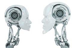 Dos criaturas robóticas Imagen de archivo