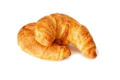 Dos croissants Imagen de archivo libre de regalías
