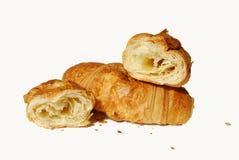 Dos croissants Foto de archivo libre de regalías
