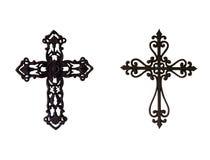 Dos cruces del hierro foto de archivo libre de regalías
