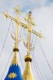 Dos cruces ortodoxas de oro Fotografía de archivo