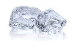 Dos cubos de hielo Foto de archivo libre de regalías