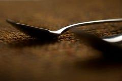 Dos cucharas abstractas Fotos de archivo libres de regalías