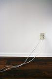 Dos cuerdas enchufadas Foto de archivo