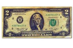 Dos dólares Imágenes de archivo libres de regalías