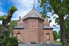 Dos d'église de Vestby (est) Photo stock
