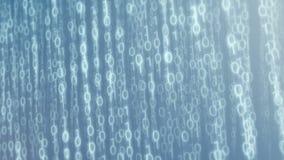 Dos dados binários ascendentes da nuvem 4k de Digitas laço video @60fps do fundo ilustração royalty free
