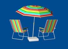 Dos de chaise longue Photos libres de droits