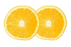 Dos de la rebanada anaranjada Fotografía de archivo