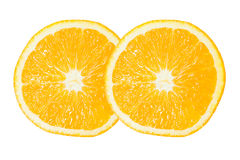 Dos de la rebanada anaranjada Fotos de archivo libres de regalías