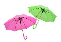 Dos de los paraguas aislados Imagen de archivo libre de regalías