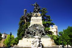 SEGOVIA, SPAIN - JULY 24, 2018: The Heroes of the Second of May memorial. The Dos de Mayo or Second of May Uprising of 1808 was a rebellion by the people of royalty free stock image