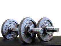 Dos de pesas de gimnasia de 2.5X2 kilogramo Imagen de archivo libre de regalías