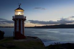 Dos de phare vers le bas Photo libre de droits