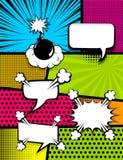 Dos de verticale d'art de bruit de bande dessinée Photographie stock libre de droits
