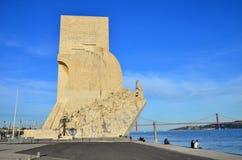 Dos Descobrimentos, Lissabon van Padrao stock foto