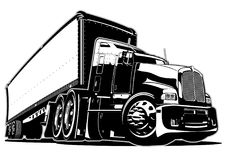 Dos desenhos animados caminhão semi Fotografia de Stock