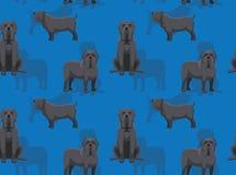 Dos desenhos animados napolitanas do mastim do cão papel de parede sem emenda Foto de Stock