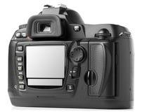 Dos digital professionnel d'appareil-photo de photo Photographie stock