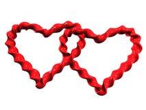 Dos dimensiones de una variable del corazón Imagen de archivo libre de regalías