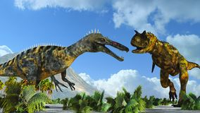 Dos dinosaurios Fotos de archivo libres de regalías